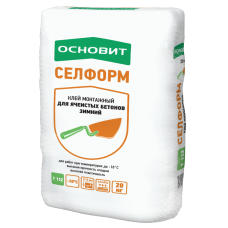 Клей плиточный Селформ  Т-112 20 кг для пенобетона