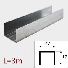 Профиль потолочный ППЭ 47/17 L=3м