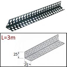 Перфопрофиль угловой ПУ 25х25х3000мм