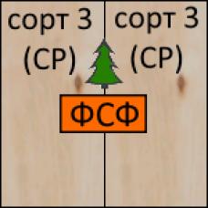 Фанера хвойная ФСФ 2440х1220х15мм, 3/3, НЕШЛИФ